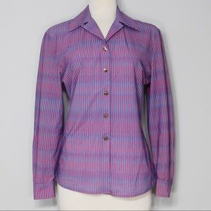 St. John Pink and Purple Button Down